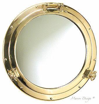 Oblò a specchio ottone Roma